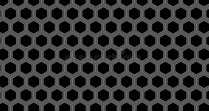 4k Hexagon ζωτικότητα κυψελωτών σχεδίων υποβάθρου γραπτή στοκ εικόνες