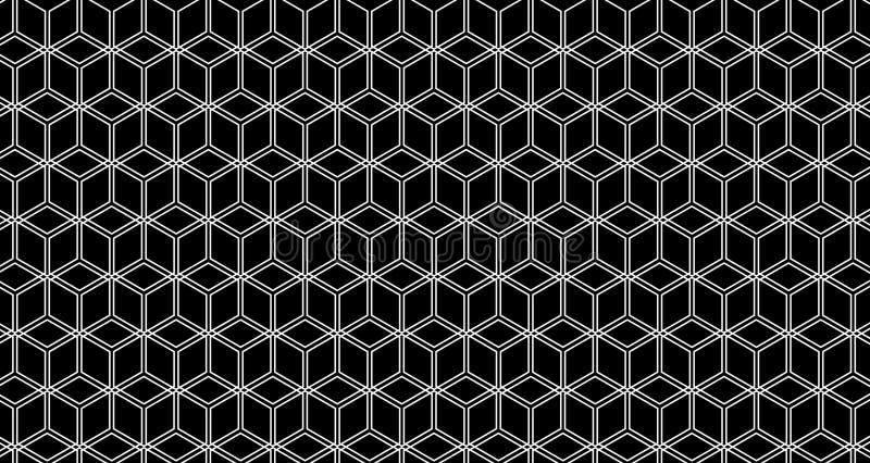 4k Hexagon ζωτικότητα σχεδίων κύβων υποβάθρου γραπτή στοκ φωτογραφία