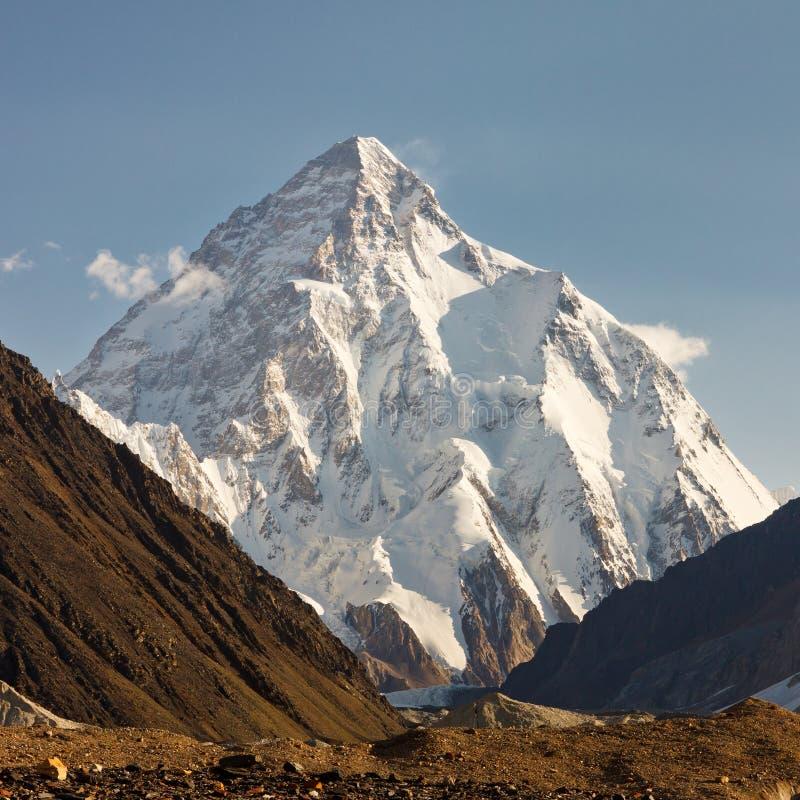 K2 Karakorum berg, Pakistan royaltyfria foton