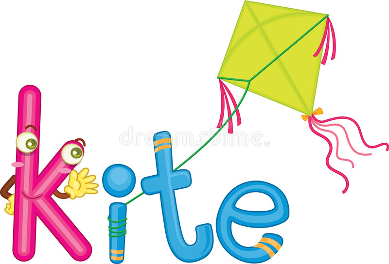 K for kite stock illustration