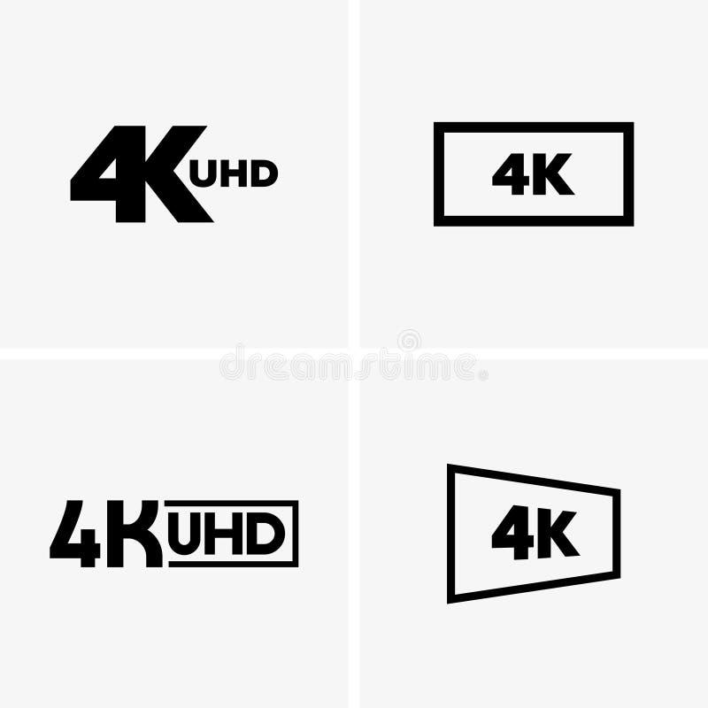 4k labels stock illustration