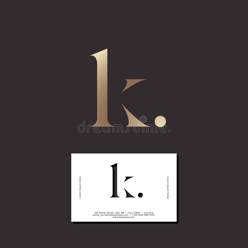Gold Elegant Letter K . Graceful Style. Calligraphic