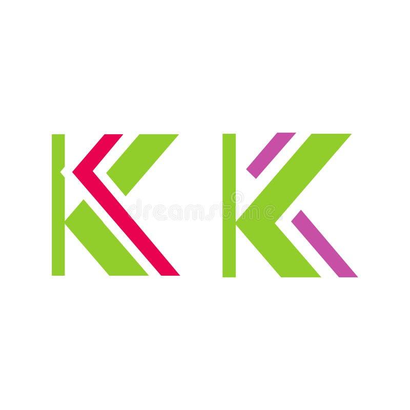 K Letter Logo concept Creative Minimal emblem design template stock illustration