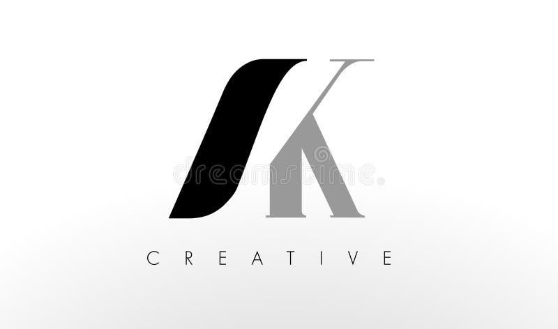 K listu loga projekt Kreatywnie AK Pisze list ikonę ilustracja wektor