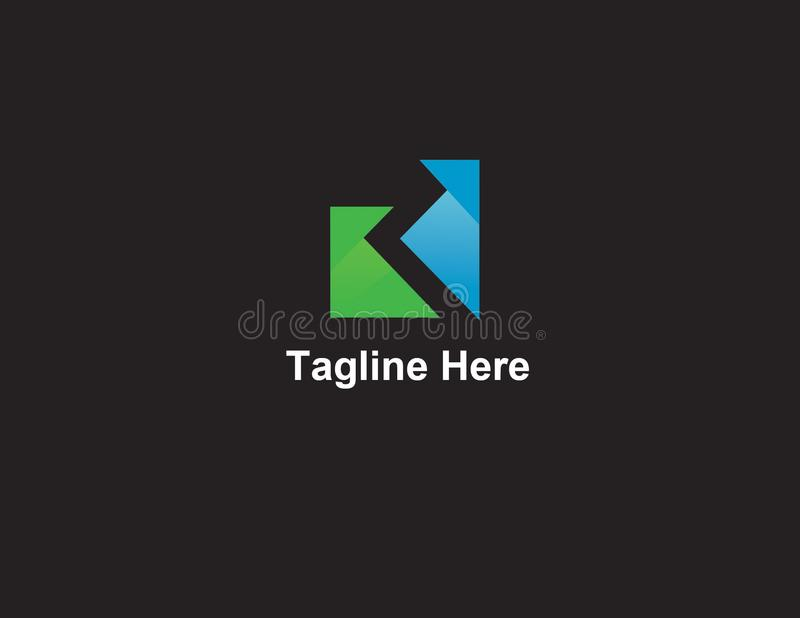 K Logo Company Template ilustração royalty free
