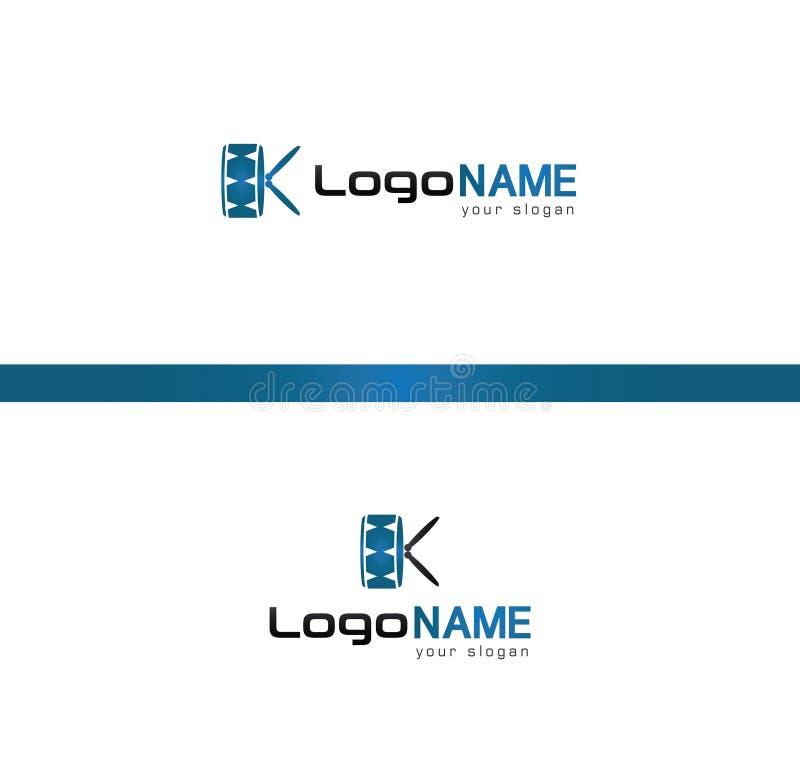 K logo, drum logo. Artistic K logo. Drum logo image. Vector image vector illustration