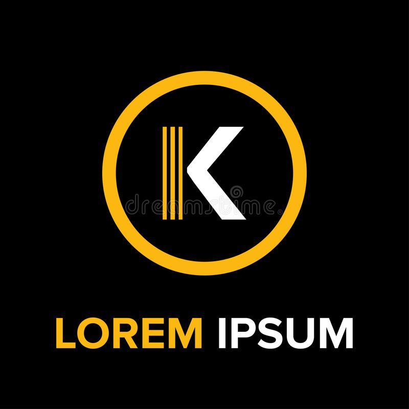 K marque avec des lettres le logo pour des affaires photo libre de droits