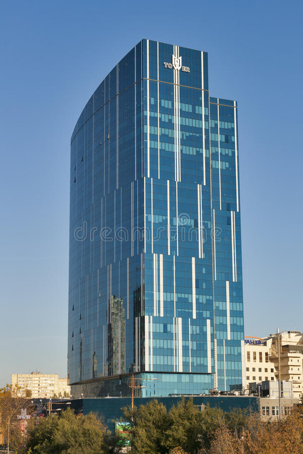 K.A.N.101 Tower office building in Kiev stock image