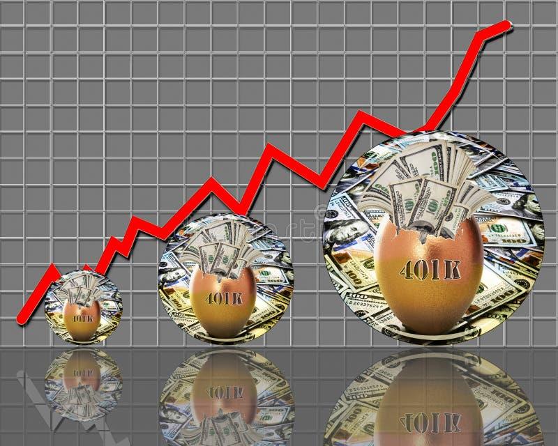 401K nestei royalty-vrije illustratie