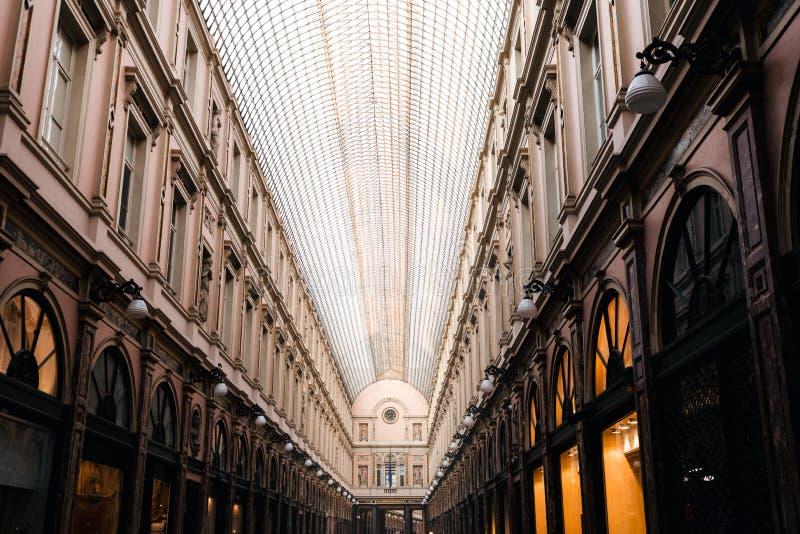 K?nigliche Galerien des Heiligen Hubert in Br?ssel, Belgien stockfotos