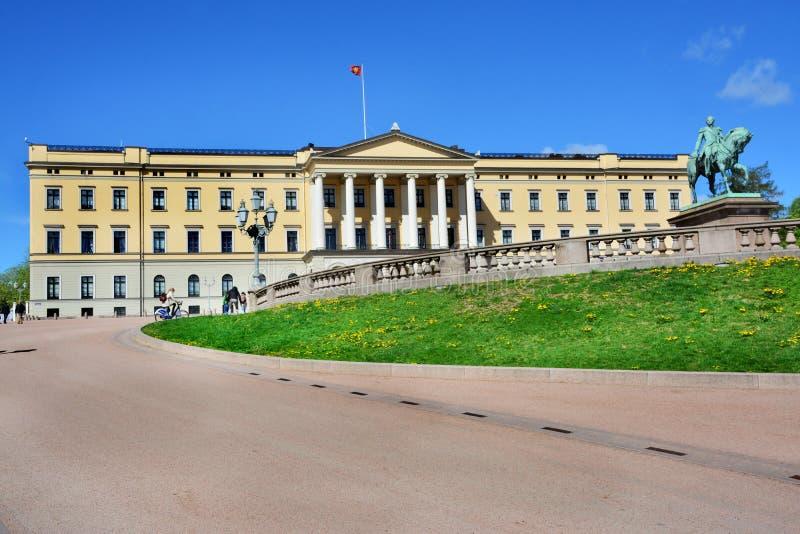 K?niglicher Palast in Oslo, Norwegen stockfotos