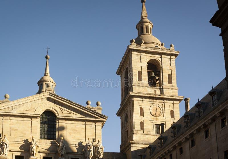 K?nigliches Kloster von San Lorenzo de El Escorial lizenzfreie stockfotos