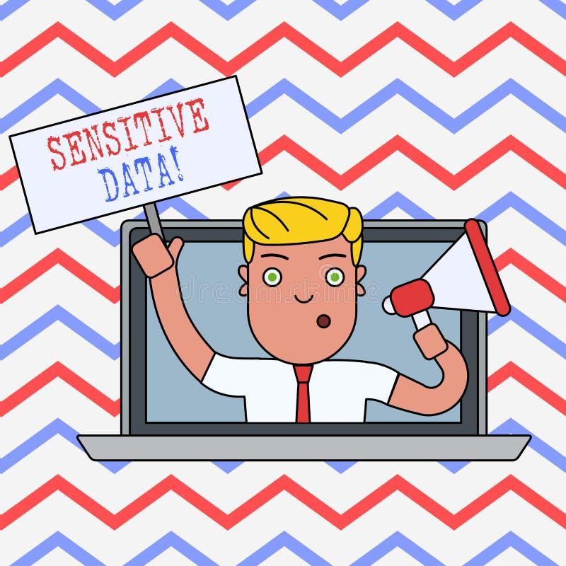 K?nsliga data f?r ordhandstiltext Aff?rsid? f?r information som skyddas mot obefogat avsl?jande stock illustrationer