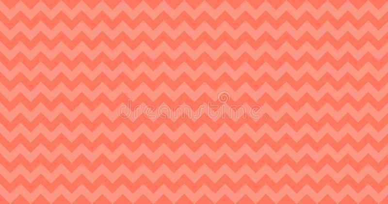 4K Ombre Chevron Horizontally Seamless Vector Pattern Tile in Living Coral Color. Zigzag Stripes. vector illustration background. 4K Ombre Chevron Horizontally vector illustration