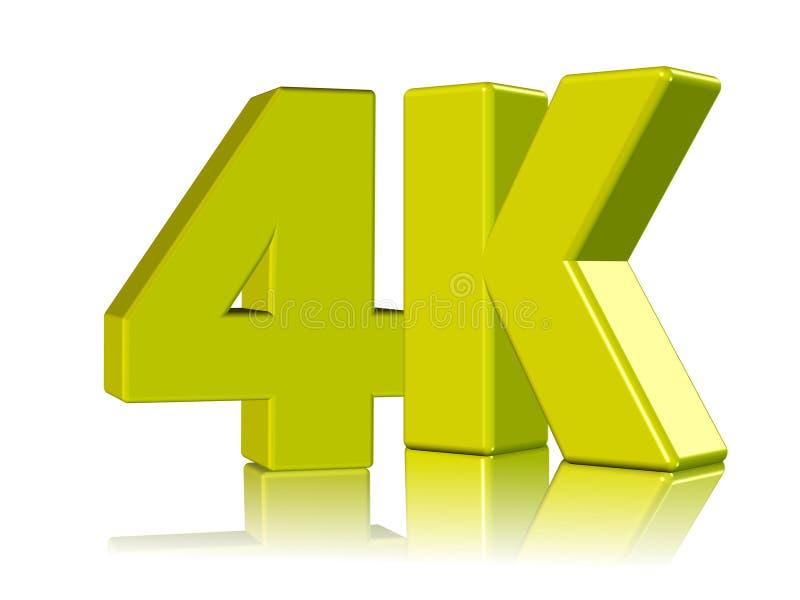 4K postanowienie fotografia stock