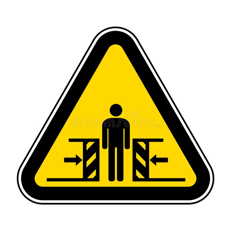 K?rper-Zerstampfungs-Kraft vom zwei Seiten-Symbol-Zeichen, Vektor-Illustration, Isolat auf wei?em Hintergrund-Aufkleber EPS10 lizenzfreie abbildung