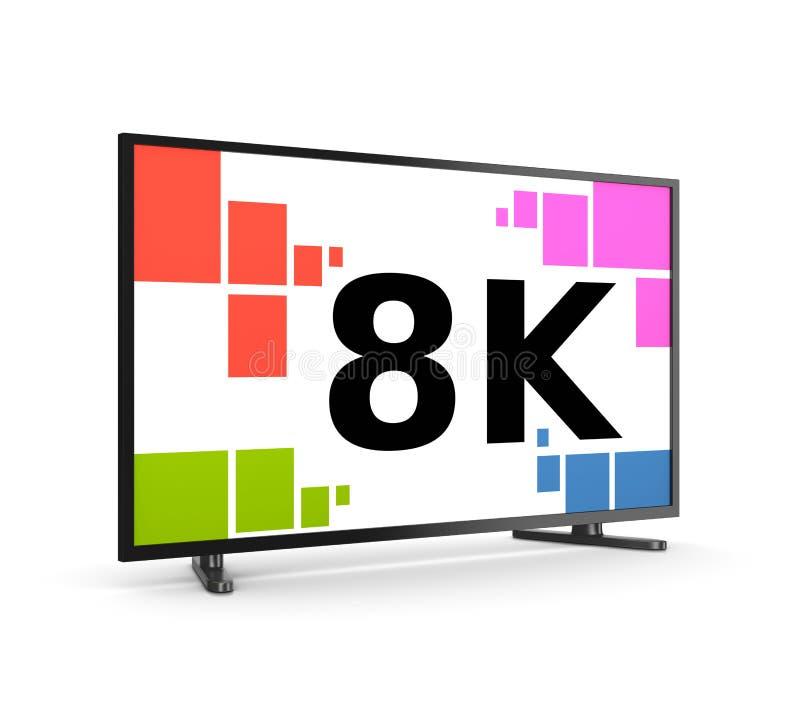 8K Televisietoestel stock illustratie