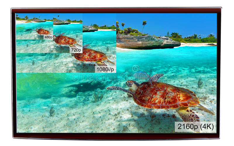 Download 4K television display stock image. Image of 1080p, definition - 34746035