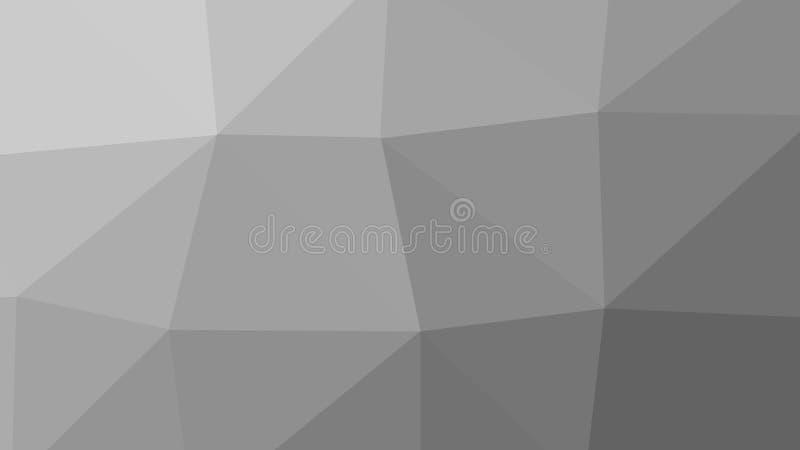 8K trójboka Abstrakcjonistycznego wieloboka Popielaty tło ilustracja wektor