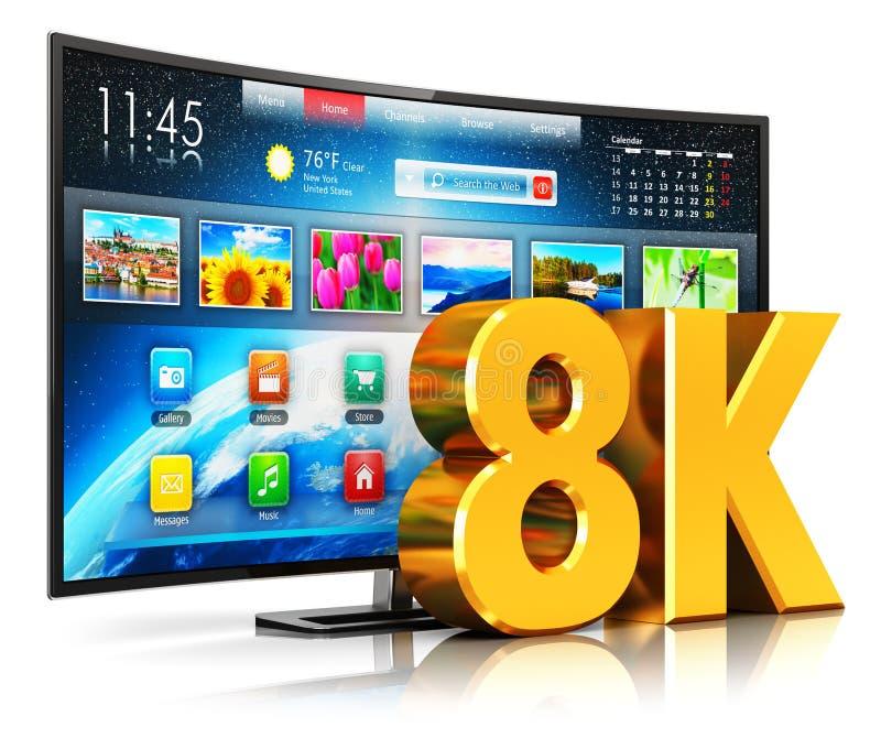 8K TV elegante curvada UltraHD libre illustration