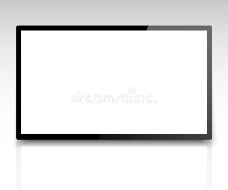 4k TV-het schermvector royalty-vrije illustratie