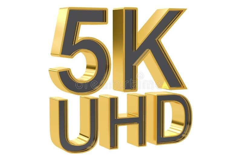 5K UHD pojęcie, 3D rendering royalty ilustracja