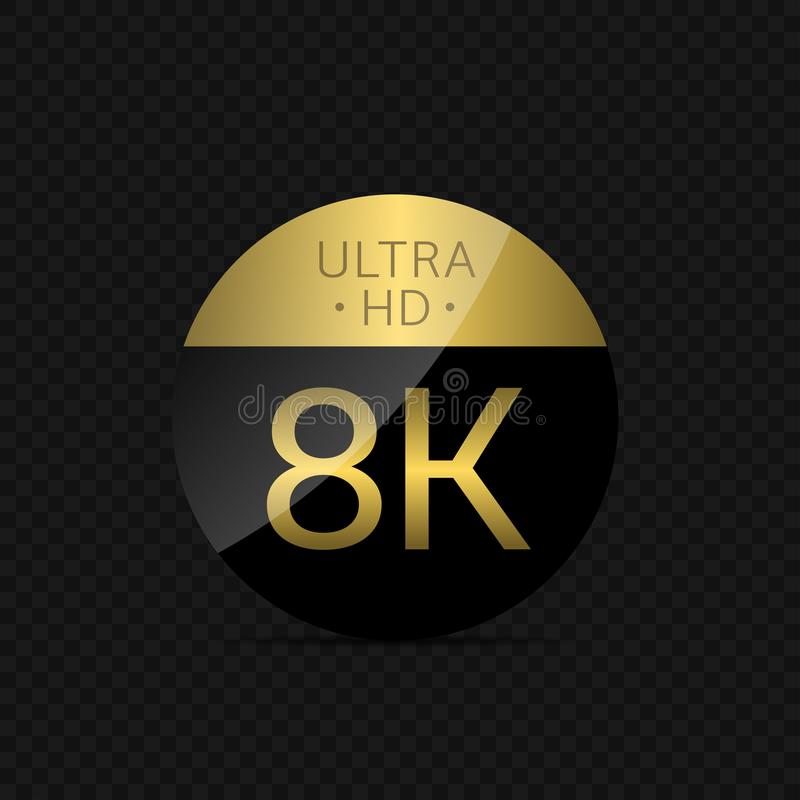 8K Ultra HD icon royalty free illustration