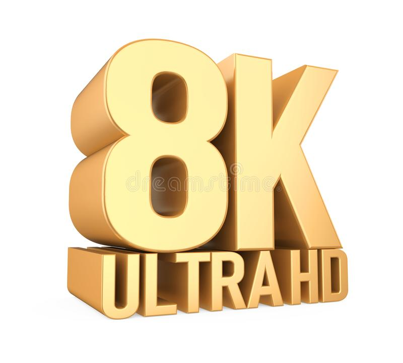 8K Ultra HD Sign Isolated royalty free illustration