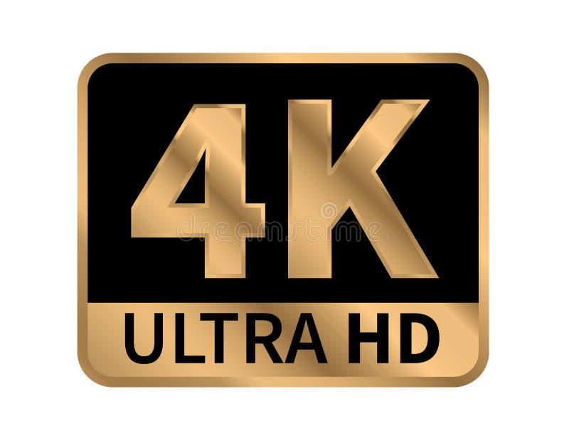 4K Ultra HD znak r?wnie? zwr?ci? corel ilustracji wektora Na bia?ym tle ilustracja wektor