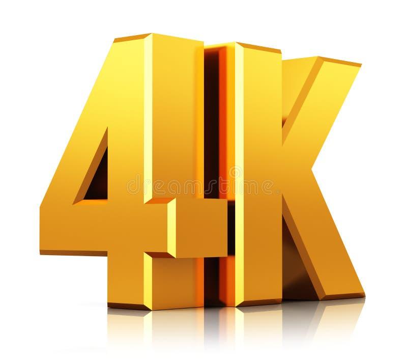 4K UltraHD TV logo ilustracja wektor
