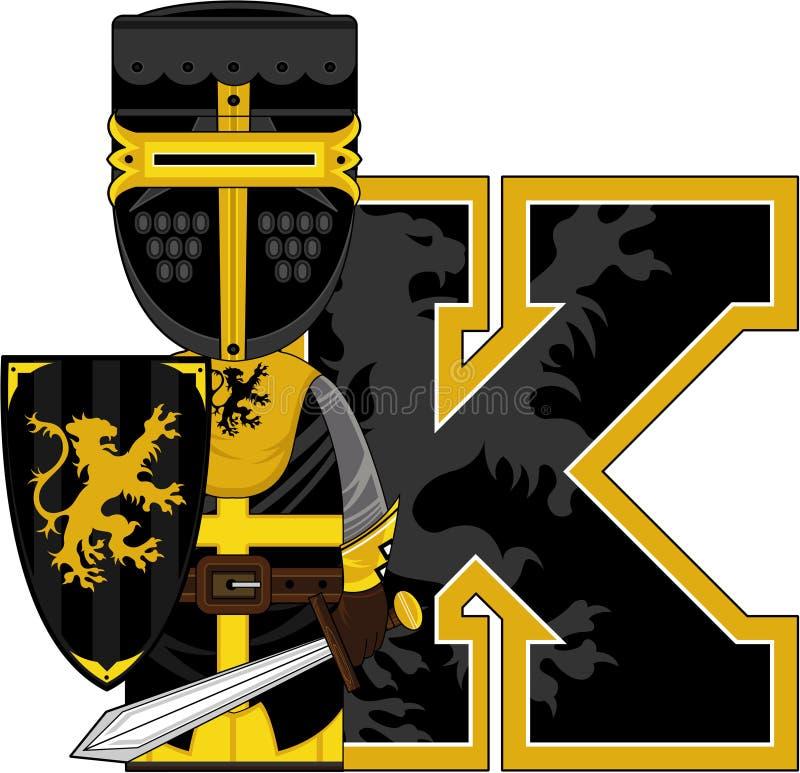 K is voor ridder stock illustratie