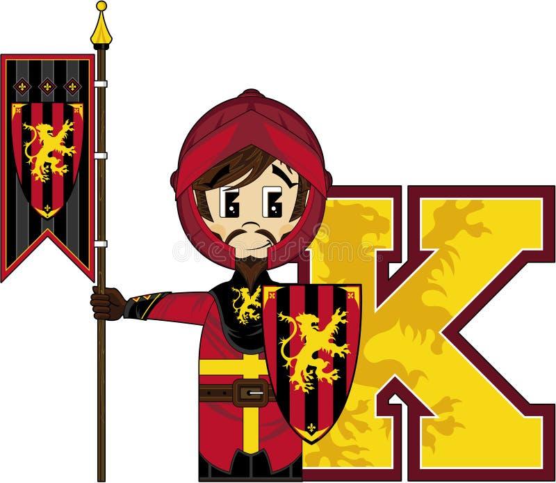 K is voor ridder royalty-vrije illustratie