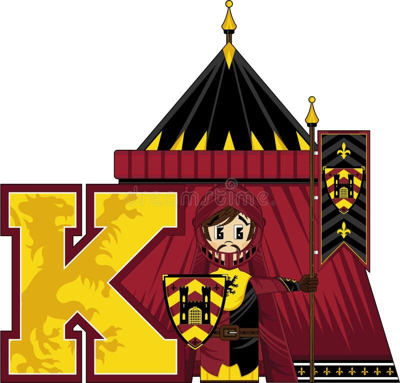 K is voor ridder vector illustratie