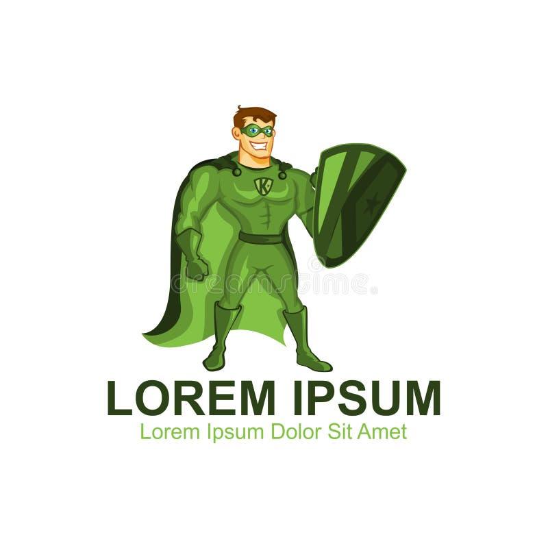 K Zielona Super Ludzka maskotka zdjęcie stock