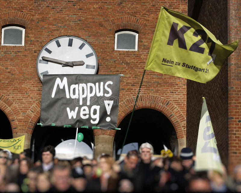 Download K21 Demonstration - Stuttgart Editorial Photo - Image of mappus, solidarity: 17085526
