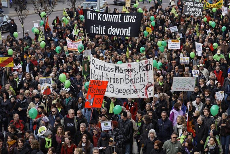 K21 Demonstration - Stuttgart lizenzfreie stockbilder