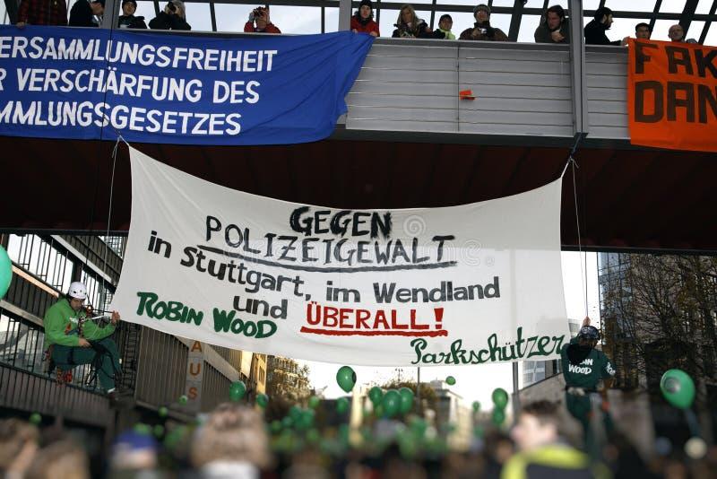 K21 Demonstration - Stuttgart21 lizenzfreie stockfotografie