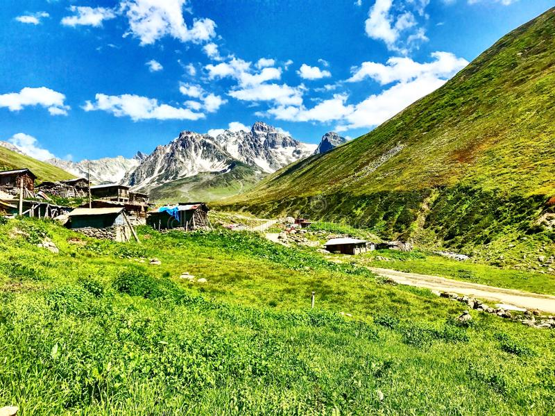 Kaçkar mountain avusor stock image