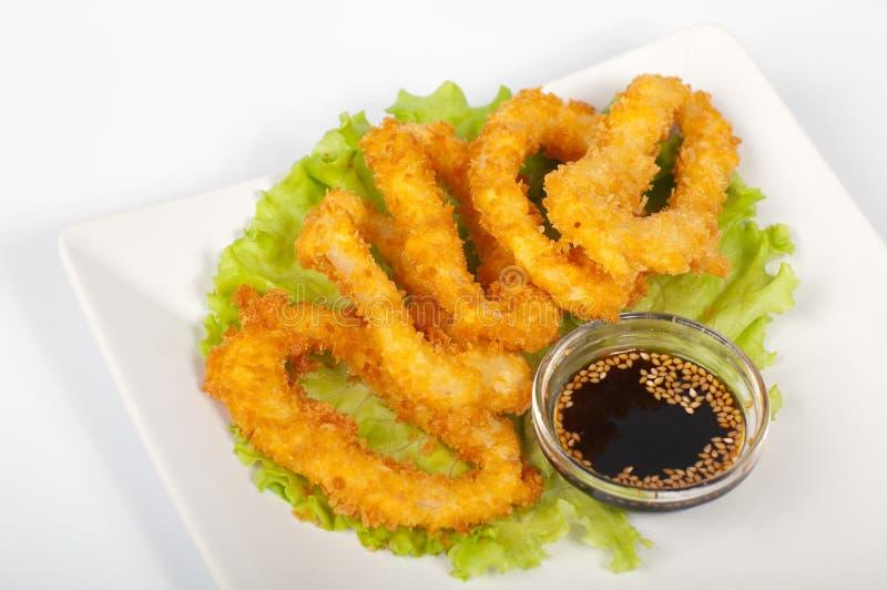 kałamarnicy tempura obrazy stock