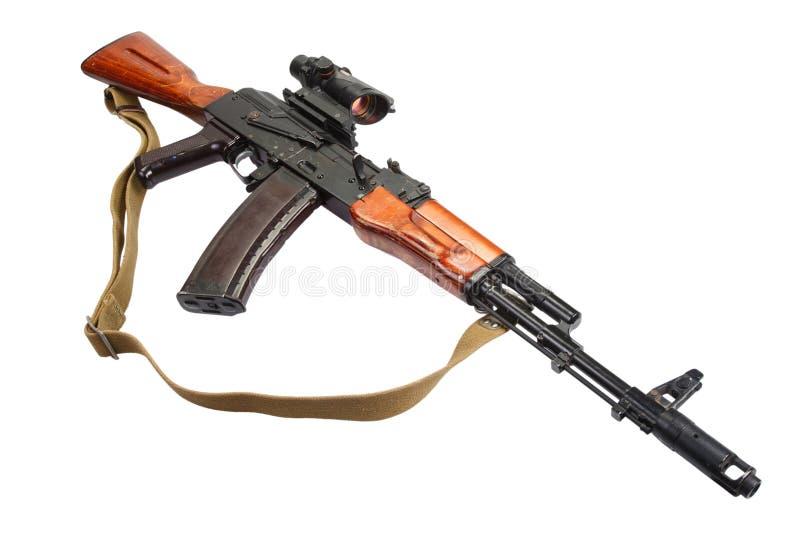 Kałasznikowu ak 47 z wzrokowym widokiem zdjęcia royalty free