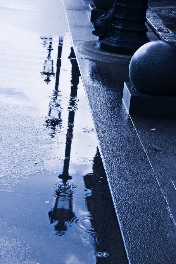 kałuża deszcz obrazy stock