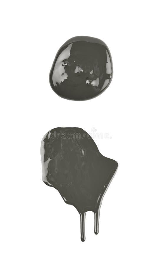 Kałuża odizolowywająca farba zdjęcia royalty free