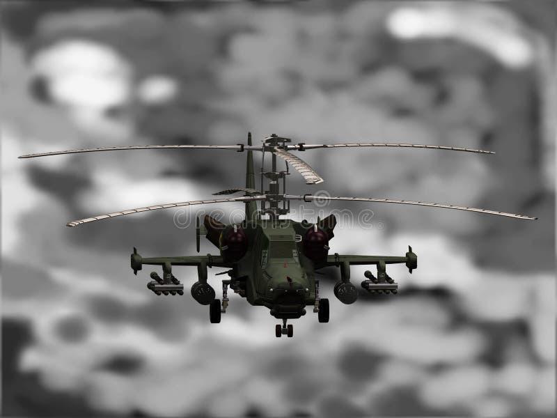 Download KA-50 Helicopter stock illustration. Image of weapon, ka50 - 3595060