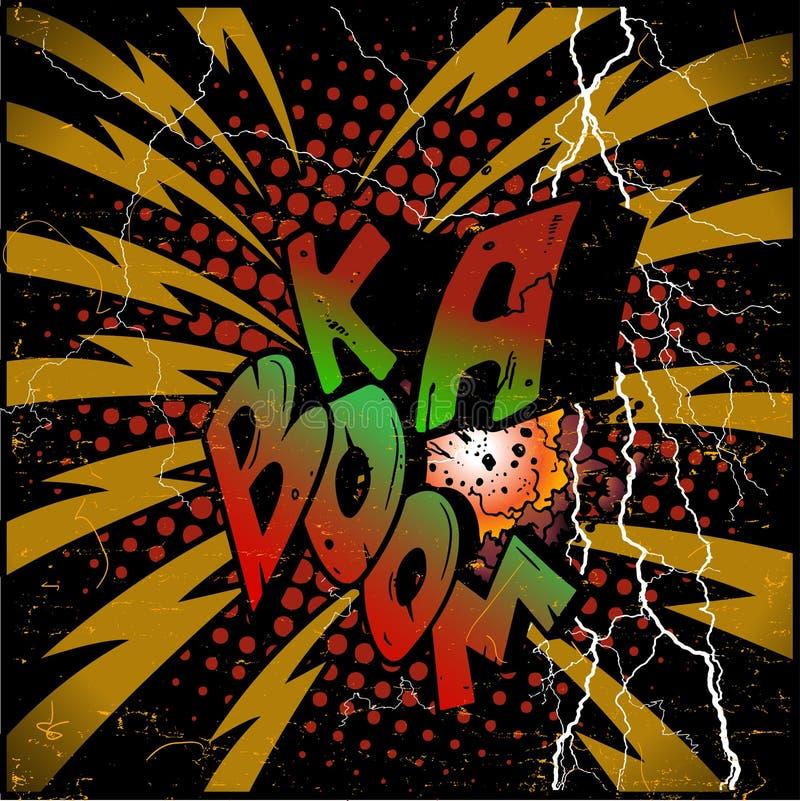 Ka-auge de la explosión libre illustration
