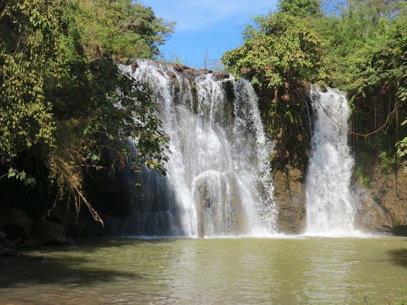 Ka Chang waterfalls. Near Banlung in Cambodia stock photography