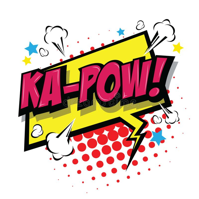 Ka-prisonnier de guerre ! Bulle comique de la parole Vecteur ENV 10 illustration de vecteur