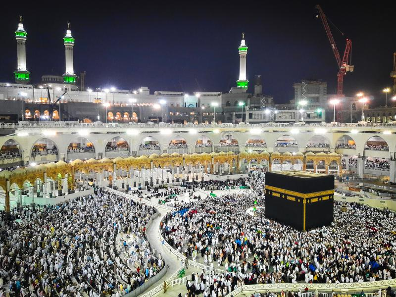 Kaaba σε Makkah, Σαουδική Αραβία στοκ εικόνα με δικαίωμα ελεύθερης χρήσης