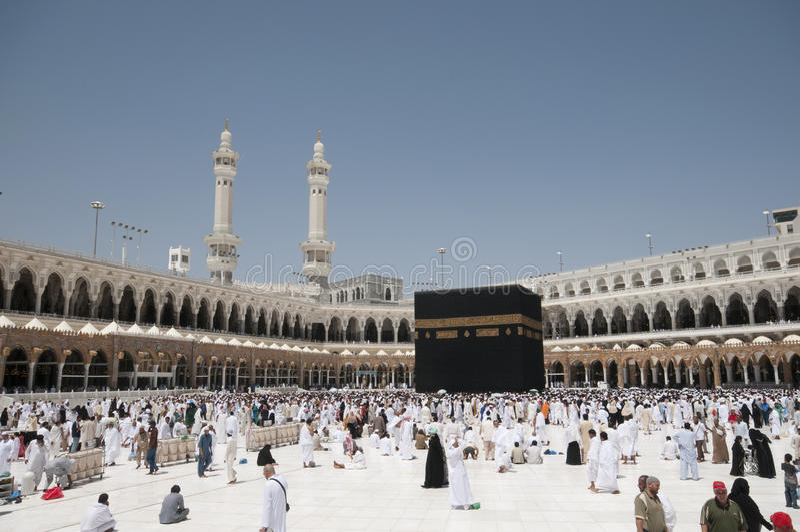 Kaaba em Makkah, reino de Arábia Saudita. fotos de stock royalty free
