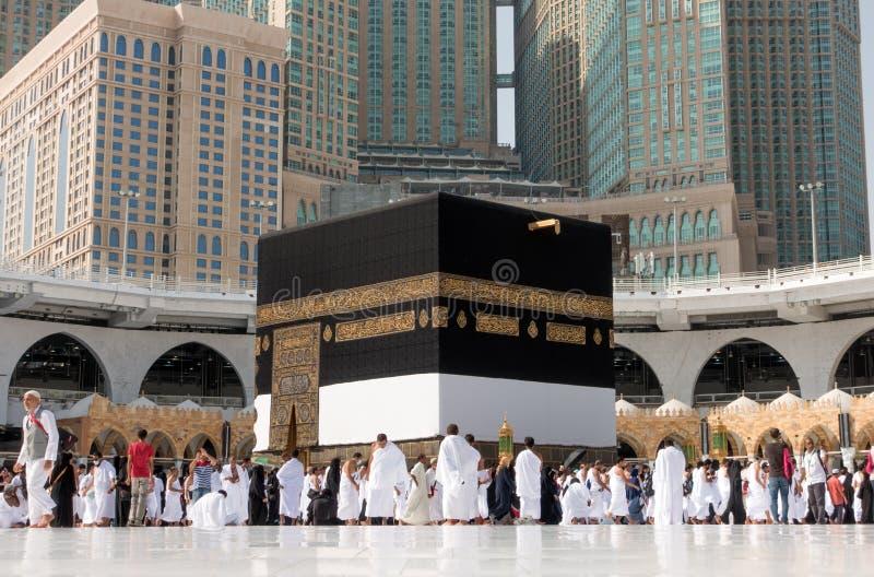 Kaaba i Mecka i den Saudiarabien ledaren arkivbild