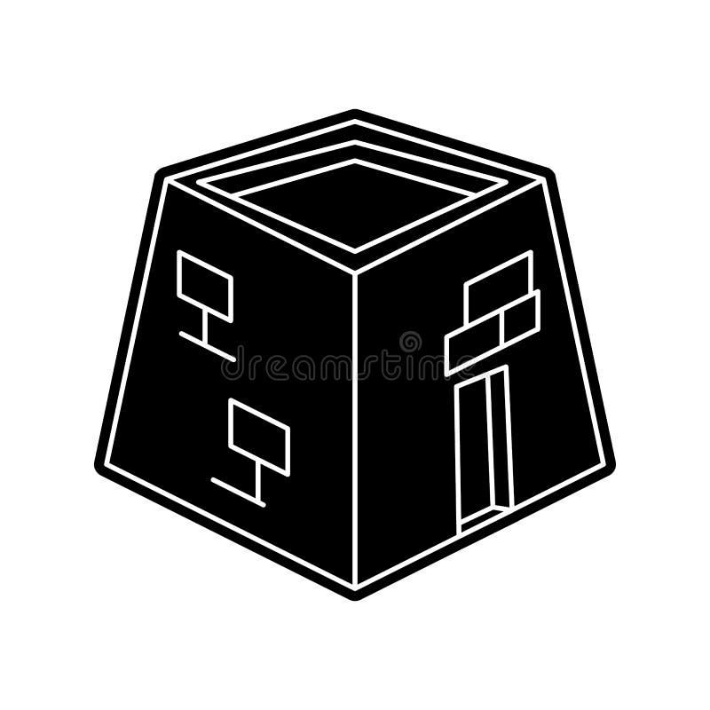 Kaaba-Ikone Element von arabischem f?r bewegliches Konzept und Netz Appsikone Glyph, flache Ikone f?r Websiteentwurf und Entwickl stock abbildung